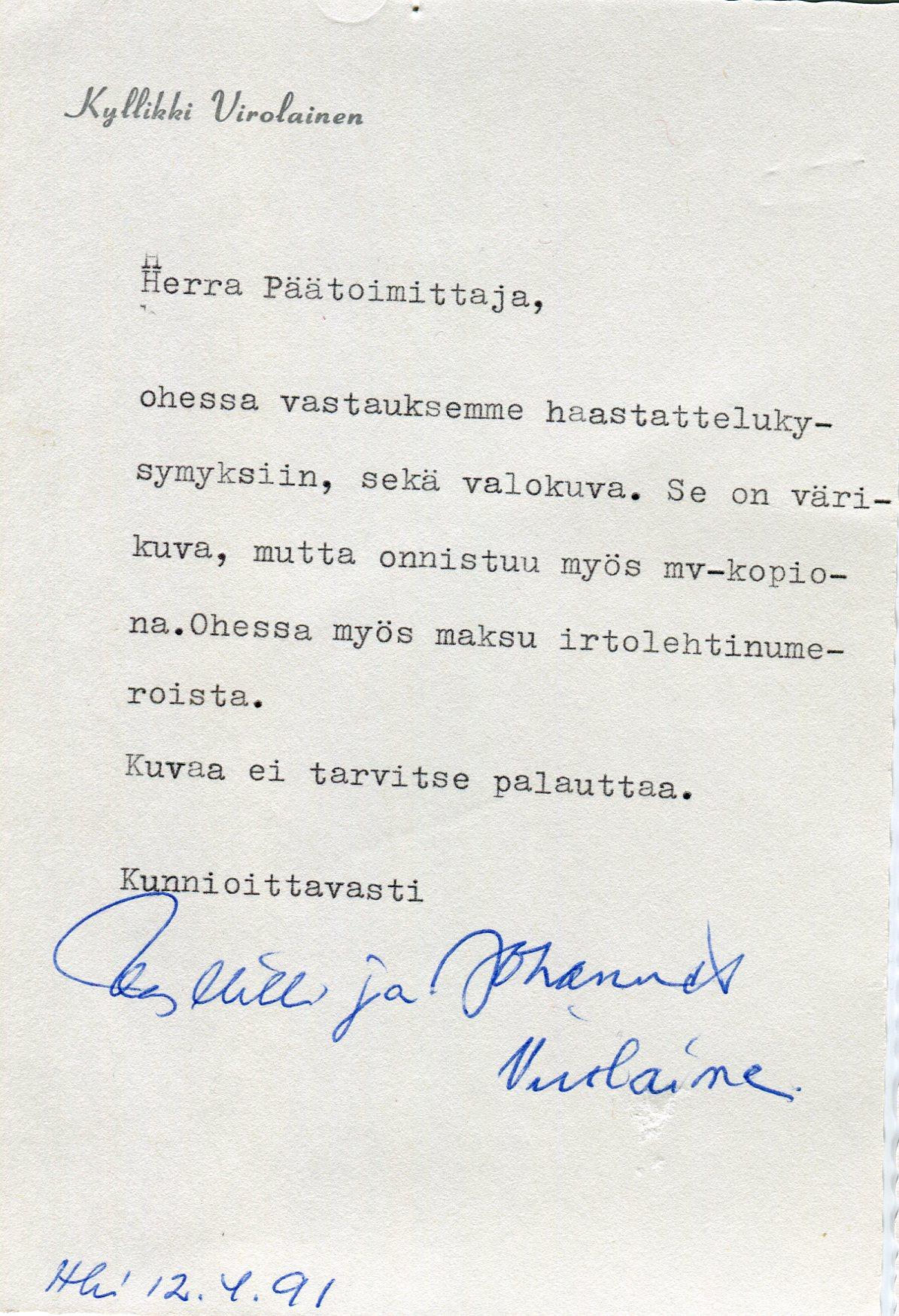 Kirje_Kyllikki2017
