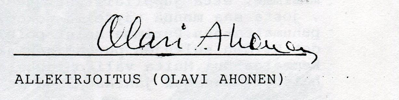 Olavi Ahonen999